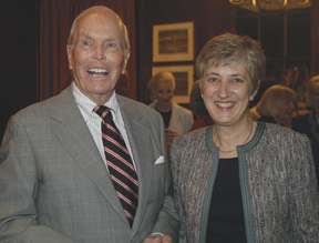 Lansing Lamont and Dame Lynne Brindley