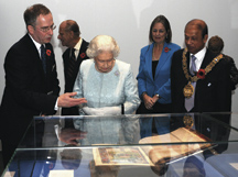 Scot McKendrick, BL Head of History and Classical Studies;  The Duke of Edinburgh, The Queen, Baroness Blackstone, The Lord Mayor of Camden.