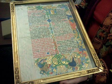Illuminated Manuscript at Columbia