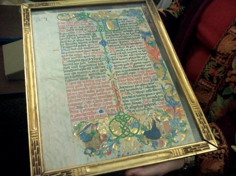 Illuminated Manuscript at Columbia