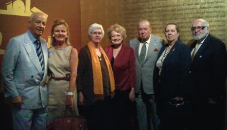 James & Anne Sitrick, Dr. Helen Evans, Elizabeth & Stanley Scott, Caroline Rubinstein & Phillip Winegar at the Metropolitan Museum