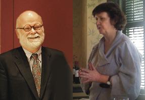 William Stoneman and Helen Shenton of Harvard Univerity Libraries