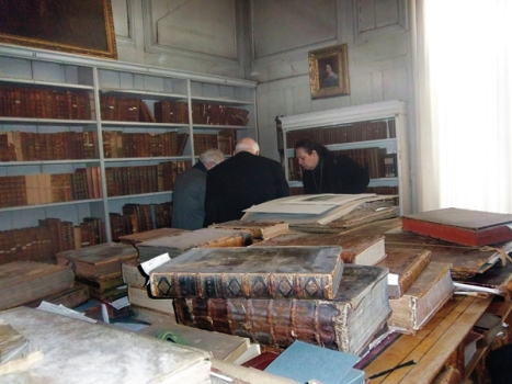 """Turner Studio"" in private library at Petworth House."