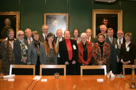 All the members at the British Library visit.